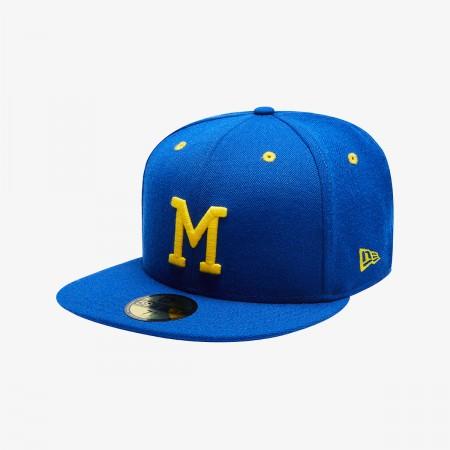 MLB 쿠퍼스타운 밀워키 브루어스 사이즈캡 로얄 블루(5950 MLB COO 83 MILBRW CO BRIGHT ROYAL)