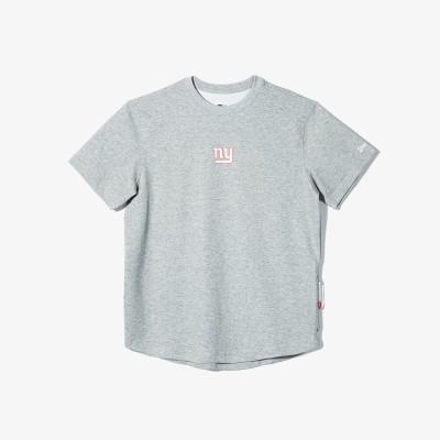 NFL 뉴욕 자이언츠 사이드 포켓 반팔 티셔츠 그레이